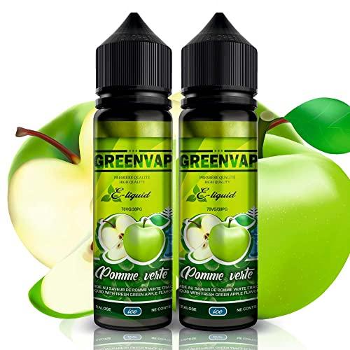 E-liquid 2 x 50 ml Manzana verde con frescor de GreenVap |...