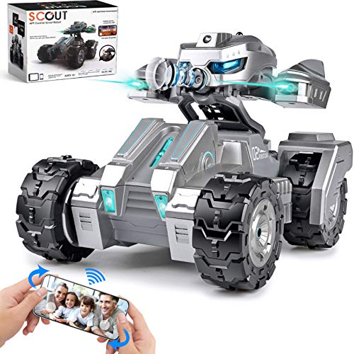 RC Car Remote Control Car with 720P HD FPV Camera 1/18 Remote Control Truck Gravity Sensor Rc Truck for Kids Versus Mode Rock Crawler Car Gift for Boys and Girls (Updated Android App)