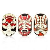 THE BRITISH MUSEUM - Juego de 3 broches para Mujer con Forma de Ukiyo-e Colorido para Mujeres y niñas