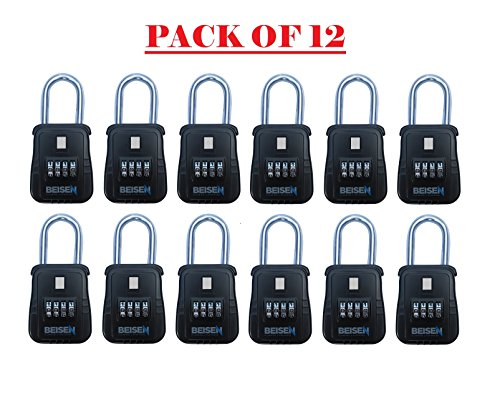 12 Pack of Key Safe Realtor Lock Box with Set-Your-Own Combination Lock