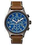 Timex Reloj Cronógrafo para Hombre de Cuarzo con Correa en Cuero TW4B09000