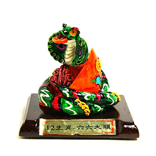 Art Saigon Feng Shui - figuur van Chinese slang (hoogte 6,5 cm) (ref. 7D-3598) – zeester van de Chinese astrologie.