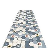 Alfombra de la sala de estar de la sala de estar del estilo geométrico, alfombra de área antideslizante para cocina comedor, fácil de limpiar, 60 cm / 80 cm / 100cm / 120cm de ancho (tamaño: 100x300cm
