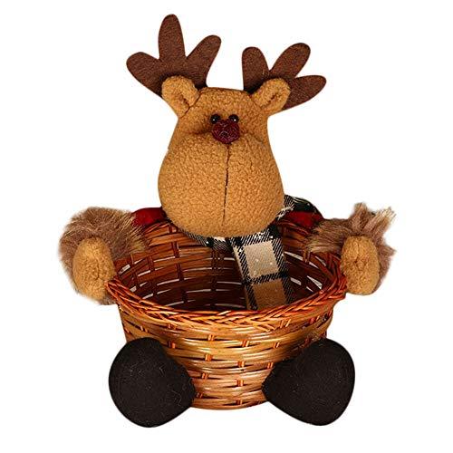 carol -1 Weihnachtszucker Lagerung Bambus Weben Korb Dekoration Korb (Santa), Weihnachtsdekoration Ornament, Weihnachtsmann Dekoration, Weihnachten Geschenke für Kinder