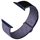 JONWIN Compatible Cinturino per Apple Watch Cinturino 42mm,44mm, Cinturino Orologio Bracciale in per iWatch Series 6/5/4/3/2/1/SE,Midnight BlackBlue