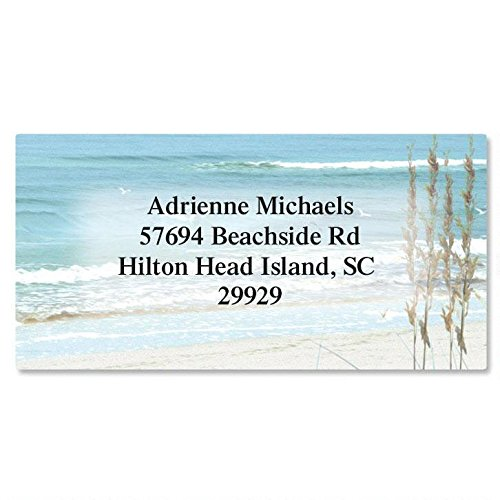 Seashore Personalized Return Address Labels- Set of 144, Large Self-Adhesive, Flat-Sheet Labels, by Colorful Images