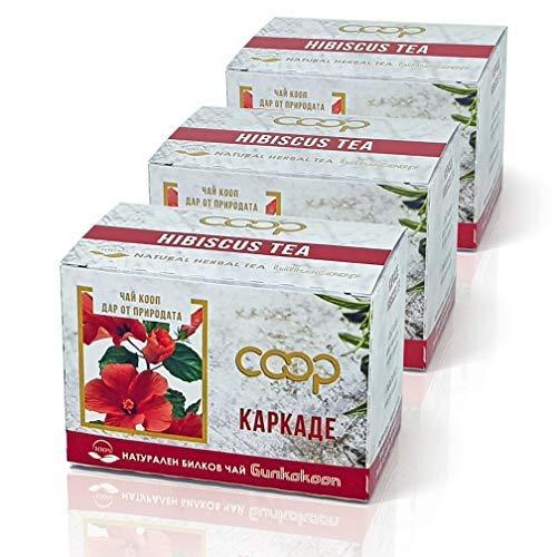 Hibiskustee, Kräutertee -Dank seines hohen Gehalts an Vitamin C wird vor allem als Tonikum und und Erfrischungsgetränk verwendet, 3 Packungen zu 20 Filterbeuteln (60 x 1,5 Gramm), 100% Natural