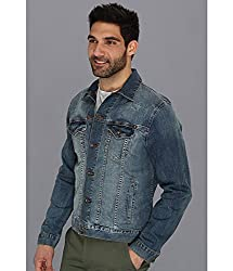 Lucky Brand Men's Lakewood Denim Jacket, Delta, Medium