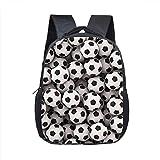 Boyyu 12 Inch Foot Ball Backpack School Backpack Printing Schoolbags Children Kindergarten Toddler Backpack Gift