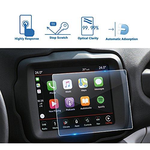 LFOTPP Jeep Renegade Uconnect 8,4 Zoll Navigation Schutzfolie - 9H Kratzfest Anti-Fingerprint Panzerglas Displayschutzfolie GPS Navi Folie