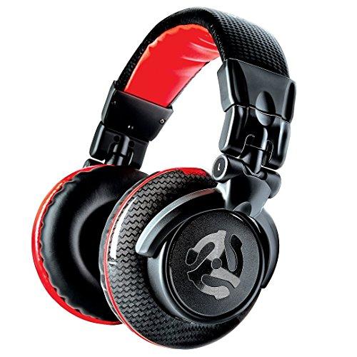 Numark Red Wave Carbon - Leichter, hochwertiger Full-Range-DJ-Kopfhörer mit Drehgelenken, 50 mm-Treibern, abziehbarem Kabel, 3,5 mm-Adapter und Tasche