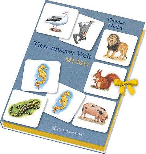 Tiere unserer Welt Memo: 64 farbige Memokarten in einer Geschenkbox