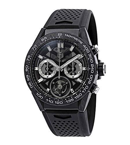 TAG Heuer Carrera 02T Tourbillon Chronograph Automatic Black Dial Mens Watch CAR5A8W.FT6071