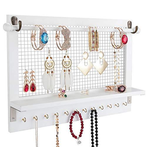 Halcent Schmuckständer Schmuckbaum Kettenhalter Schmuck Ohrringhalter Schmuckhalter Wand Armbandständer für Ringe Ohrringe Halskette Uhren Armbänder