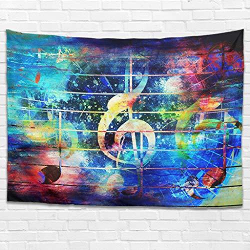 Psychedelic Musik Wandteppich Wandbehang Bohemian Wandtuch Wall Hanging Tapisserie Wandkunst für Schlafzimmer Wohnzimmer als Stranddecke Picknickdecke