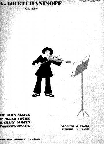 In Aller Frühe: 10 Kinderstücke - Piano Score and Violin part