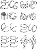 Sither 8 Piece Women Earrings Cuff Clip for...