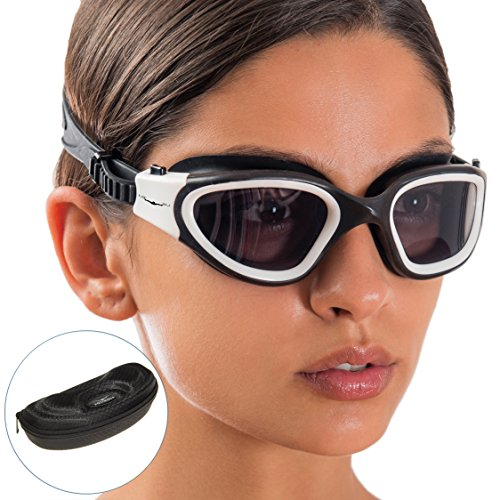 AqtivAqua Swim Goggles Swimming Goggles for Adult Men Women Kids Youth Girls Boys Childrens DX...