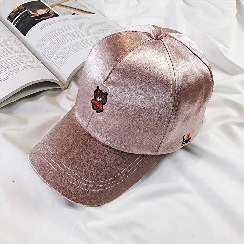 Gorra de béisbol Hombres y Mujeres Verano Linda Gorra Street Bend Cap Rosa Ajustable