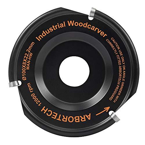 ARBORTECH Industrial Woodcarver   Ø 100 mm Hartmetall Frässcheibe für Winkelschleifer zur Holzbearbeitung   IND.FG.100