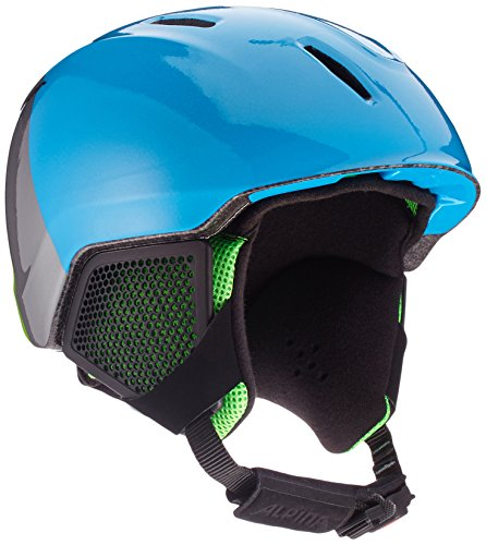 ALPINA Jungen Carat LX Skihelm, Green-Blue-Grey, 51-55 cm