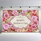 Fondo de fotos para el día de la madre Fotografía de fondo rosa patrón floral para accesorios de estudio de fotografía-7 x 5 pies