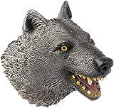CreepyParty Marionetas de mano de lobo realistas juguetes suaves de látex de goma animal cabeza marioneta para niños niños