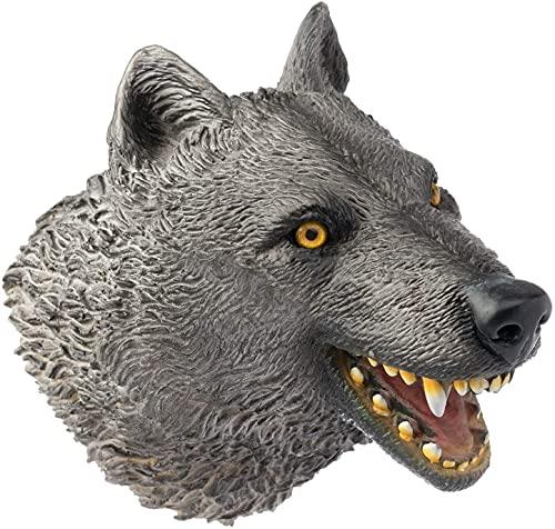 CreepyParty Wolf Handpuppen Realistische Soft Toys Latexgummi Tierkopfpuppe für Kinder Kinder