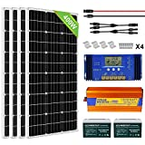 ECO-WORTHY 400W 24V Complete Solar Panel Kit with Battery and Inverter Off Grid Solar Power System Kit for Home House Shed Farm RV...