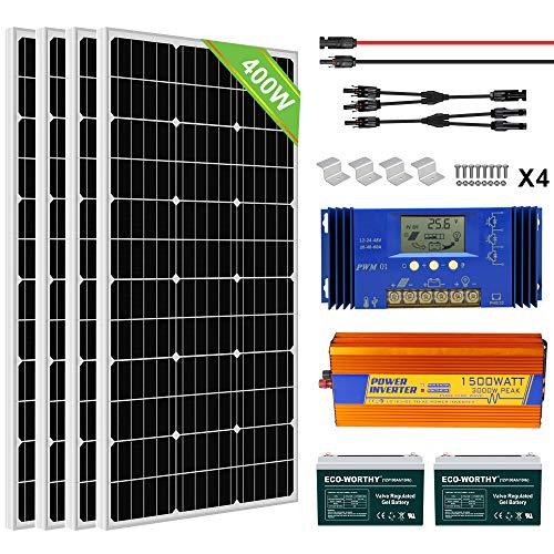 ECO-WORTHY 400W 24V Complete Solar Panel Kit