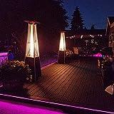Calentador de patio al aire libre, Calentador de gas de pie, estufa para asar, chimenea, decoración de jardín, protector de calentador de jardín, adecuado para patio, comercial, restaurante, glorieta
