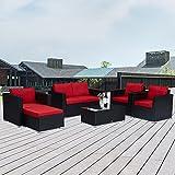 Kinbor Patio Set, 6 Pieces Outdoor Patio Furniture, PE...