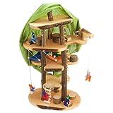 Decor-Spielzeug 'Baumhaus Traum' ca. 60 cm groß - mit viel Zubehör und inkl. Filzpüppchen -...