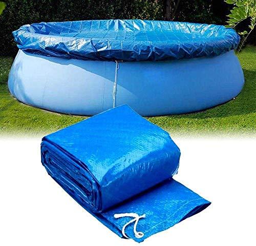 Zixin Piscina, Piscina de Lona Lona Lona fácil Lona Hinchable en la Piscina de natación Piscina protección contra el Polvo pañal Piscina Azul Oscuro de IDA y 244 cm (Size : 457 cm)