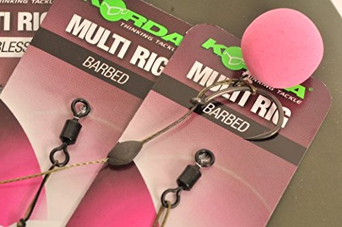 Korda Carp Fishing NEW Multi Rig Size 4 Barbed - Pack of 5