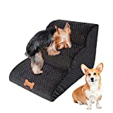 NATUREACT Escalera para mascotas de 3 niveles, cama para perros...