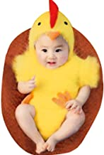 LERORO Unisex Newborn Baby Infant Costume Jumpsuit, Boys & Girls Cute Photography Chicken Costume Toddler Easter Cosplay C...