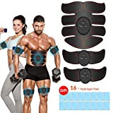 iThrough Abs Trainer, EMS Muscle Stimulator Portable AB Toner Belt for Abdomen Arm Leg Upgraded Abdominal...