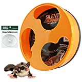 Exotic Nutrition Silent Runner 12' Regular - Durable Exercise Wheel + Cage Attachment Hardware (NO Stand) - for Sugar Gliders, Female Rats, Hamsters, Mice and Other Small Pets