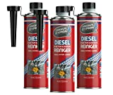 SYPRIN Diesel gasóleo Limpiador de additiv Sistema de Limpiador Uno Limpiador de inyectores Limpiador de inyector diésel de Limpieza de los Motores Diesel 3X 500ml