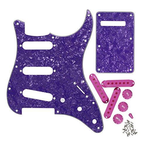 FLEOR Placa trasera para guitarra estilo SSS con pomos de control 2T1V,...