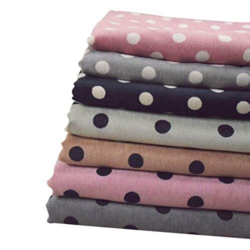 MAGFYLYDL Tela de algodón de patchwork con estampado de lunares, microelástico, pantalones para niños, faldas de mujer, tela hecha a mano (color: verde)