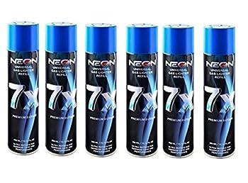 6 Cans NEON 7X Butane Refill Fuel Fluid Lighter Ultra Refined 7 Times 10.14 Oz