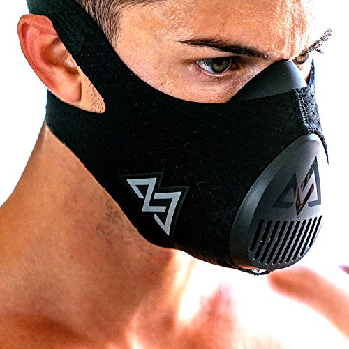 TRAININGMASK Erwachsene Training Mask 3.0 Trainingsmaske, Schwarz, M/70-120kg