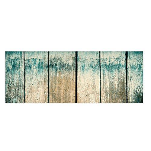 WINOMO puerta alfombra mediterráneo alfombra de entrada lavable non-slip Felpudo náutico Décor de la casa para cocina salón Hall de entrada cuarto de baño 120x 40cm