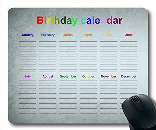 Yanteng Calendario 2019 Diseño de Alfombrilla de ratón, año Calendario Alfombrilla de ratón para Juegos, Agenda 2019 con Detalles de Vacaciones