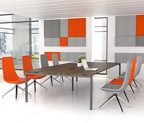 NOVA Konferenztisch 320x164cm Nussbaum + ELEKTRIFIZIERUNG Besprechungstisch Tisch