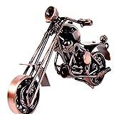 CULER Hierro Modelo De La Motocicleta De Metal Artesanías Decorativas De Motor De Moto Estatuilla Mi...