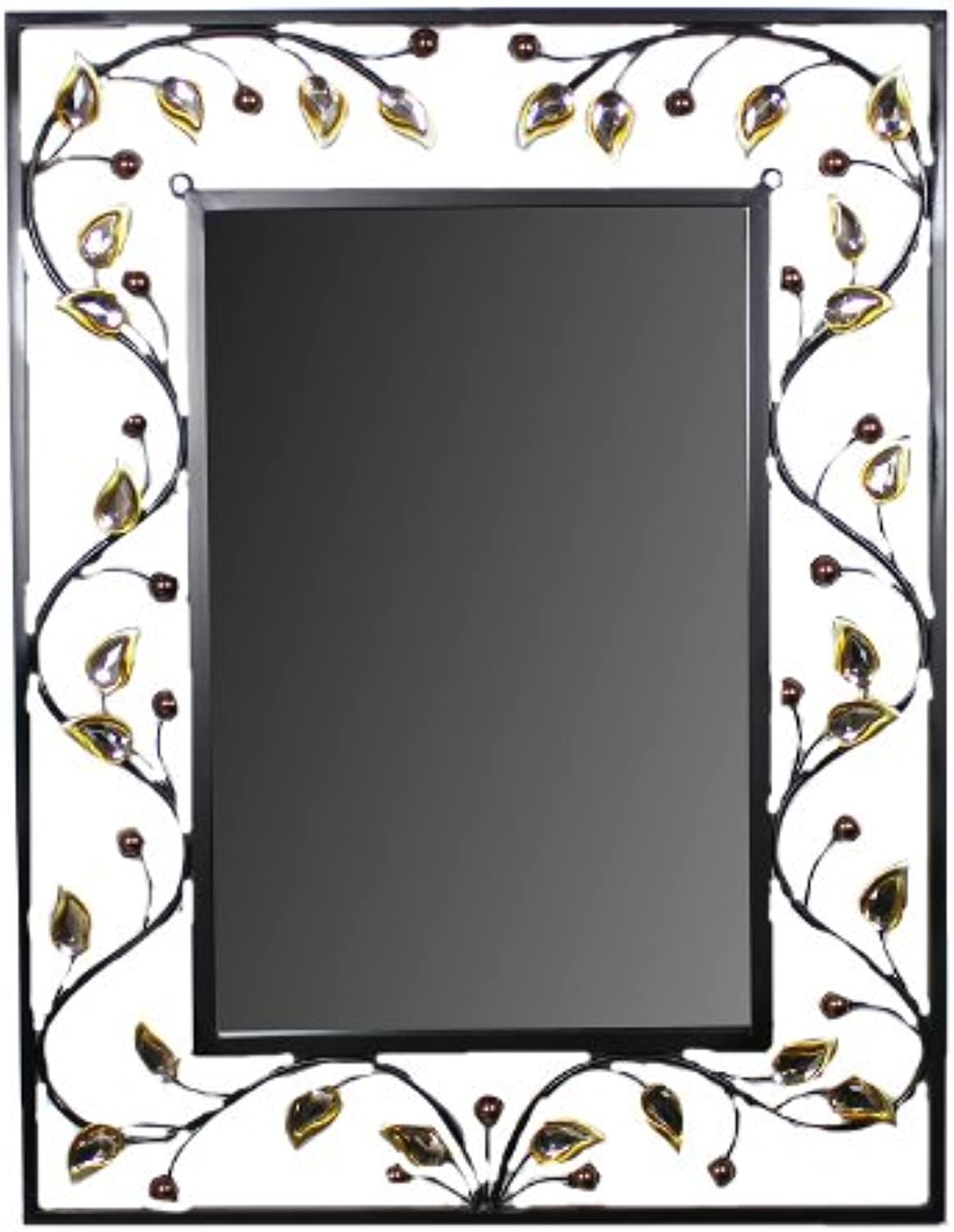 Essential Décor Entrada Collection Mirror with Metal Frame, 23 by 30-Inch