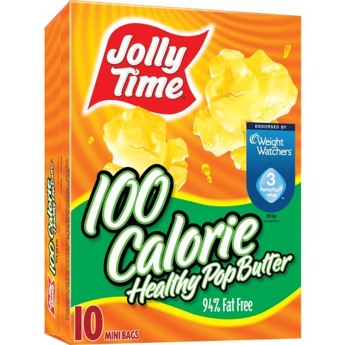 Great Price! Jolly Time Healthy Pop 100 Calorie Mini Bags Microwave Pop Corn, Butter Flavor, 12 oz, ...